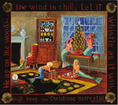 The Mermaid's Christmas, Giclée by Elizabeth Mumford Published Courtesy of http://www.elizabethmumford.com/